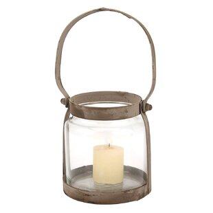 Gracie Oaks Donna Metal/Glass Lantern