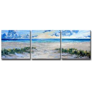 u0027deep by sarah lapierre 3 piece painting print on wrapped canvas set u0027