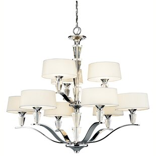 Rosdorf Park Brookefields 9-Light Shaded Chandelier