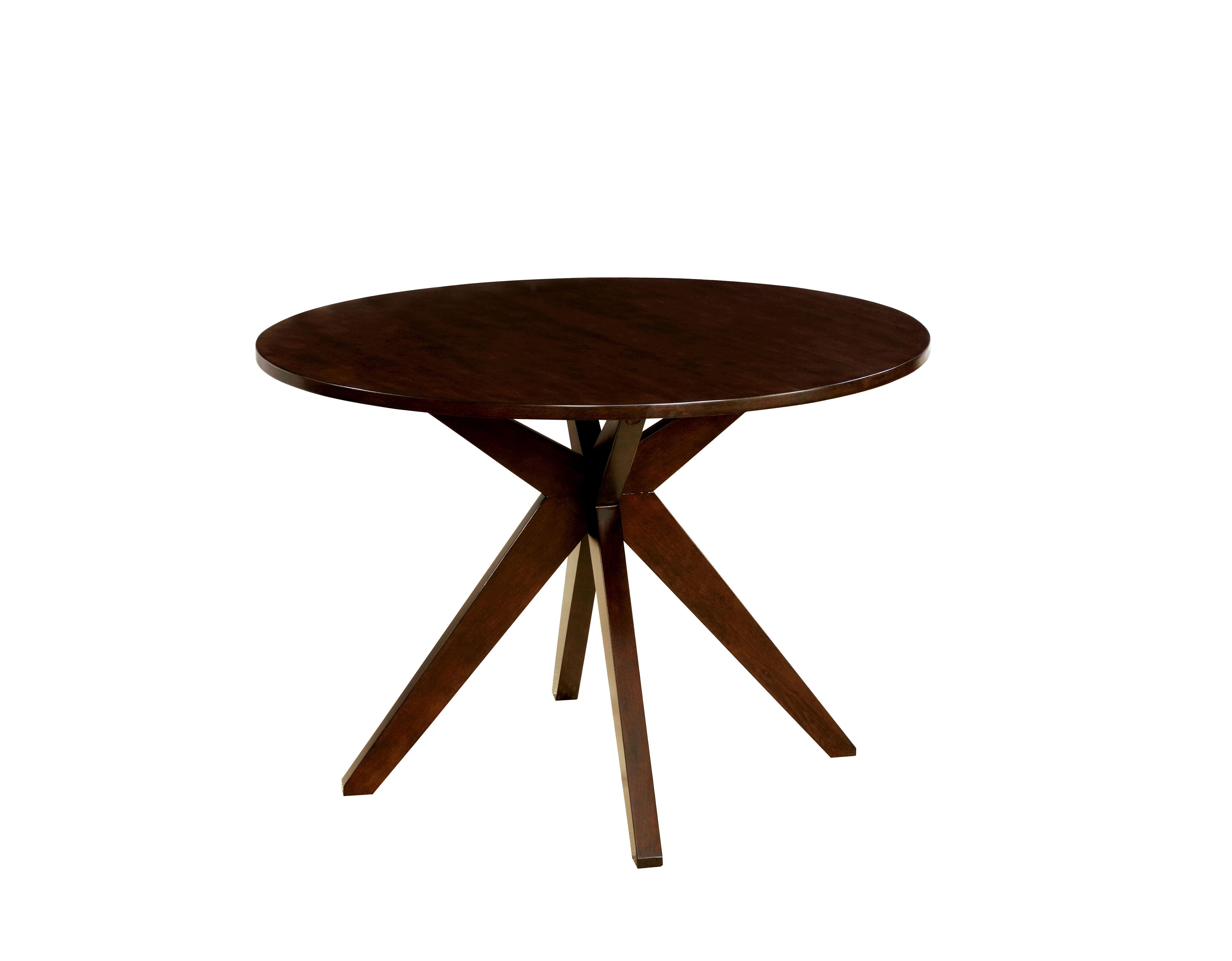 Popular Wrought Studio Bathurst Mid-Century Modern Round Dining Table  XC73