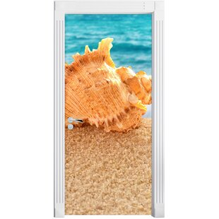 Seashell On The Beach Door Sticker By East Urban Home