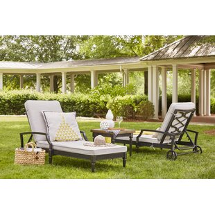 Euston Reclining Chaise Lounge with Cushion (Set of 2) by Canora Grey