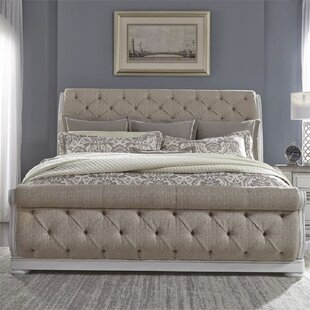 Mcgrane Queen Tufted Upholstered Low Profile Sleigh Bed by One Allium Way