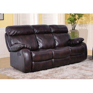 Market Garden Leather Reclining Sofa by Red Barrel Studio