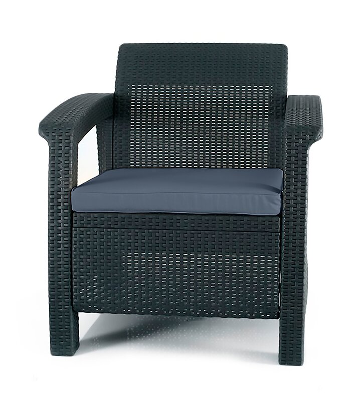 Perfect Berard All Weather Outdoor Armchair With Cushion