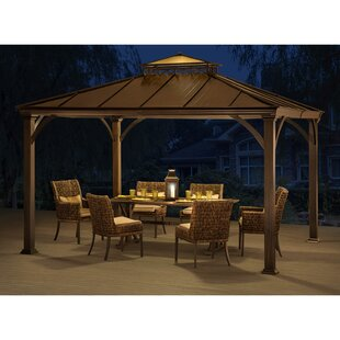 Sunjoy Marta 10 Ft. W x 12 Ft. D Metal Patio Gazebo