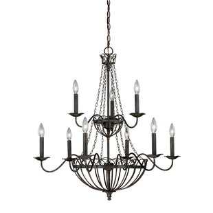 August Grove Flippen 9-Light Chandelier