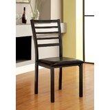 Beesley Upholstered Ladder Back Side Chair in Black (Set of 4) by Red Barrel Studio®