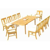 Kevon 11 Piece Teak Dining Set