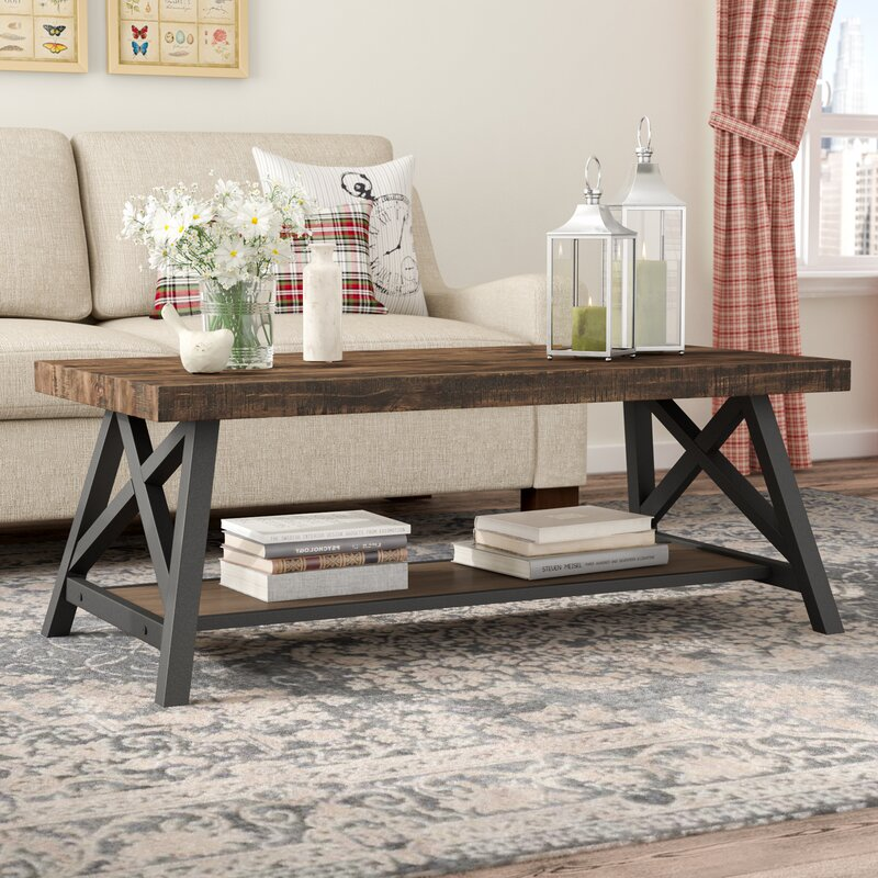 Laurel Foundry Modern Farmhouse Isakson Trestle Coffee Table Reviews Wayfair Ca