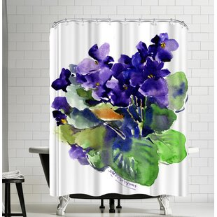 Suren Nersisyan African Violets Single Shower Curtain