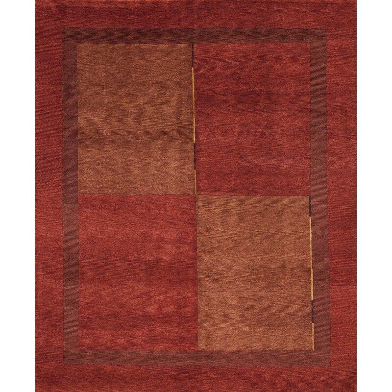 Samad Rugs Plateau Geometric Hand Knotted 8 X 10 Wool Red Brown Area Rug Perigold