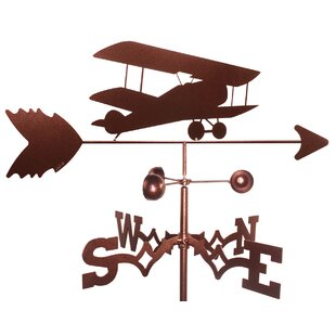 Airplane BI-Wing Weathervane By SWEN Products