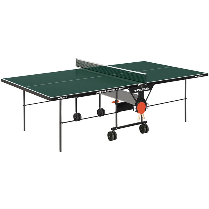 Butterfly Outdoor Home 9\' Rollaway Table Tennis Table & Reviews ...