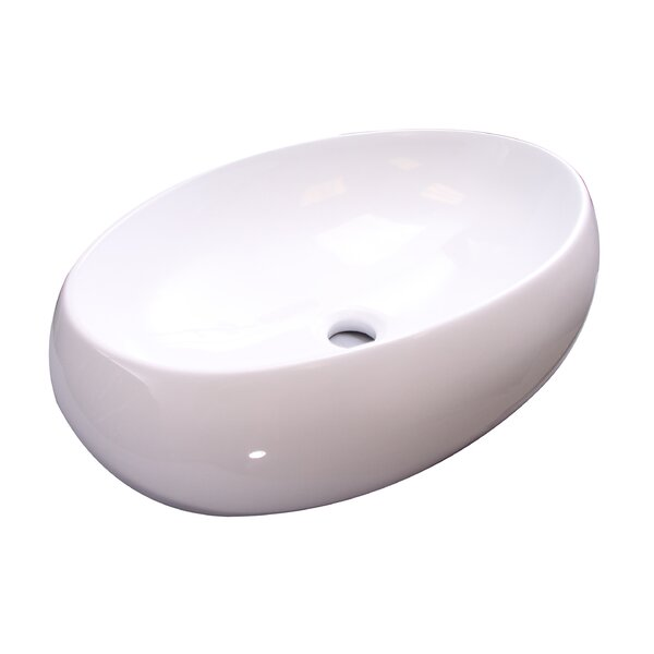 Barclay Hanover Vitreous China Oval Vessel Bathroom Sink Wayfair
