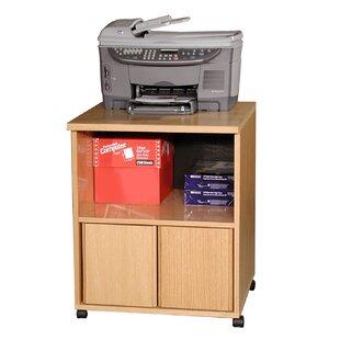 Modular Real Oak Wood Veneer Furniture Mobile Printer Stand by Rush Furniture