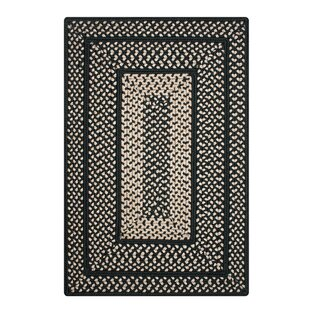 Bronagh Ultra Durable Braided Black/Beige Indoor/Outdoor Area Rug
