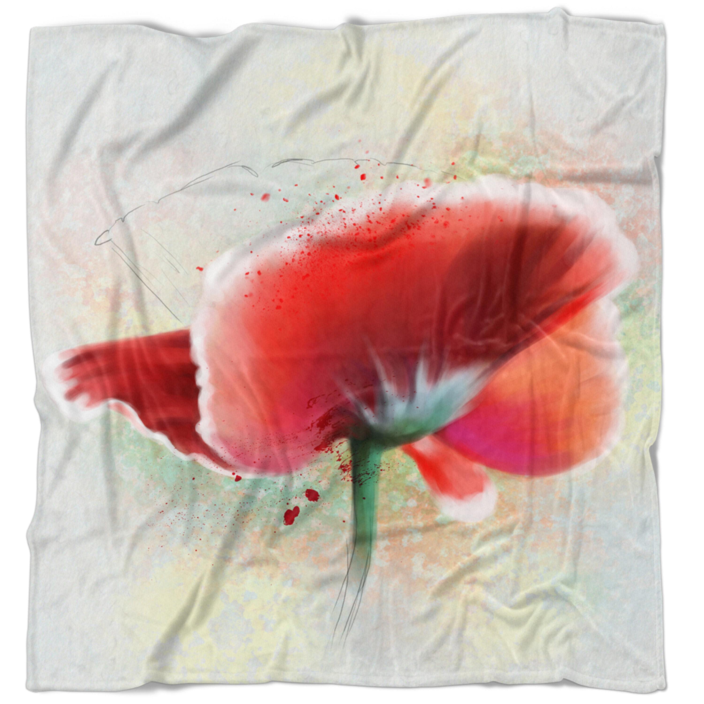 East Urban Home Flowerswork Beautiful Watercolor Poppy Blanket Wayfair