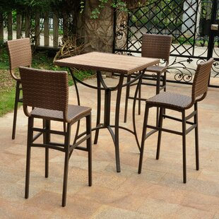 Katzer 5 Piece Bar Height Dining Set
