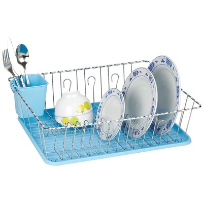 Twist Wire Large Dish Rack AmericanDream Finish: Light Blue