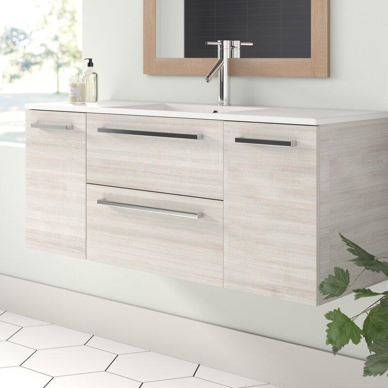 Wall Mounted Single Bathroom Vanity Set