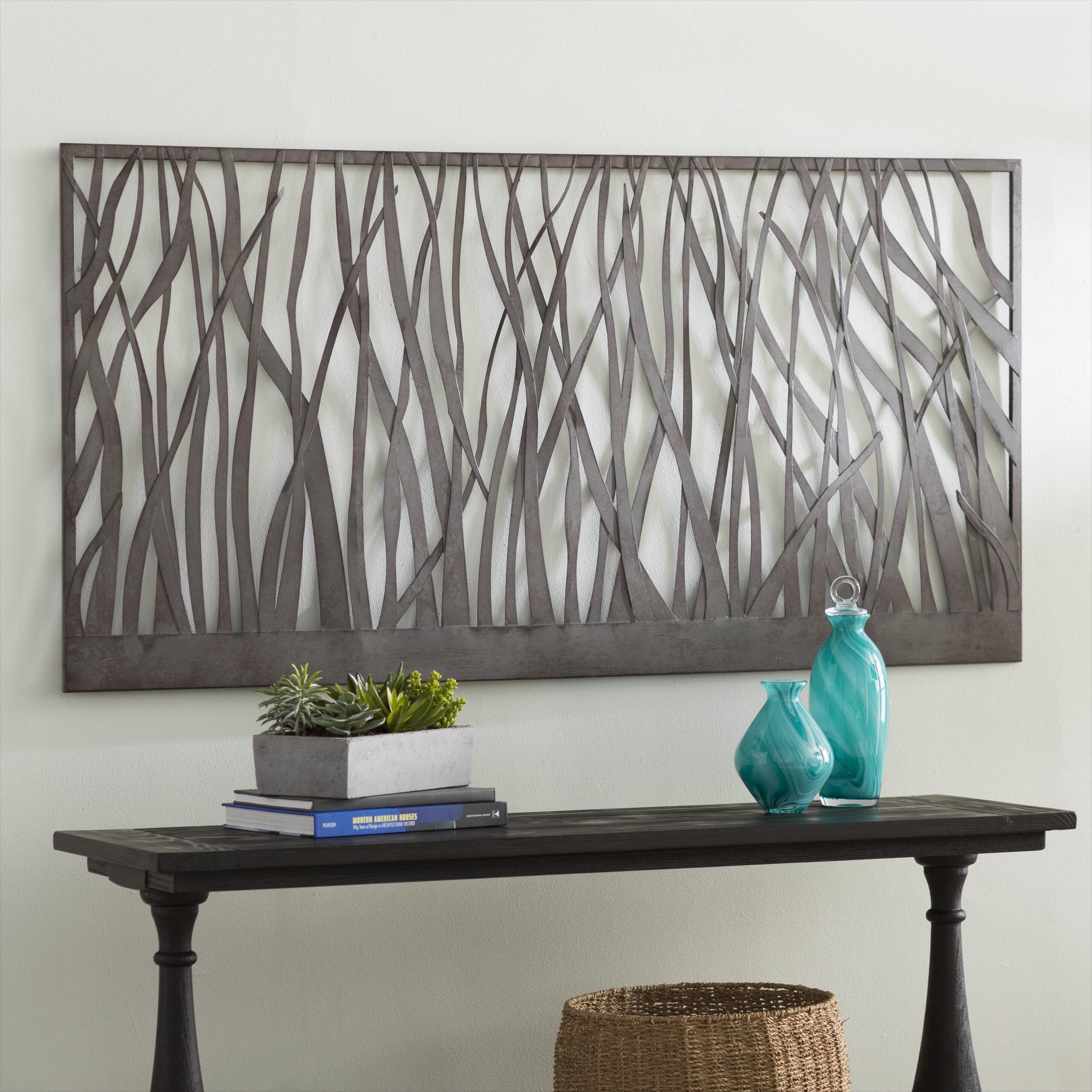 Olive Gray Metal Wall Decor