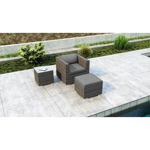 Gilleland 3 Piece Patio Chair with Sunbrella Cushion