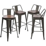 Hartselle Swivel Solid Wood Counter & Bar Stool (Set of 4) by Williston Forge