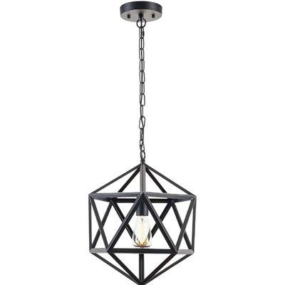 Light Society 1-Light Lantern Geometric Pendant
