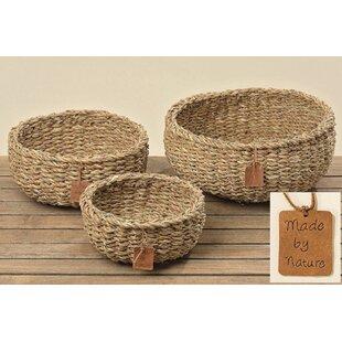 3 Piece Seagrass Basket Set By Brambly Cottage
