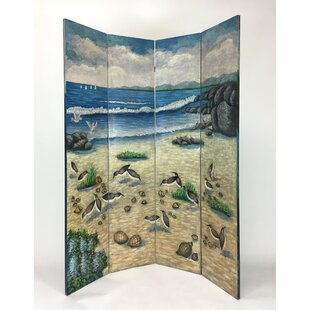 Rosecliff Heights Field Sandy Beach 4 Panel Room Divider