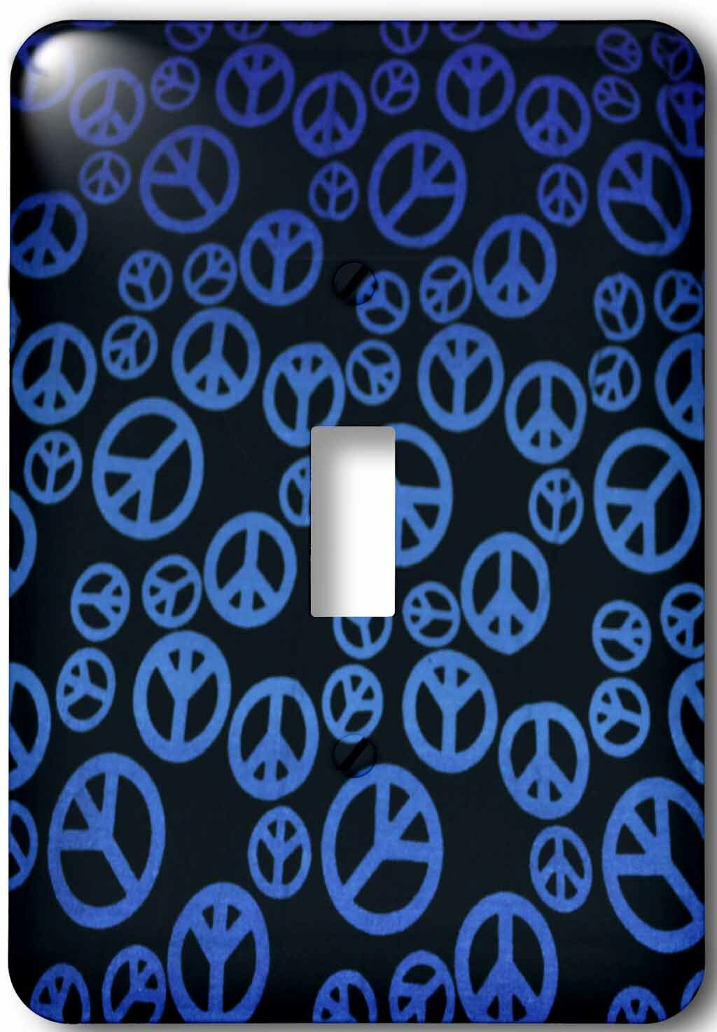 3drose A Bunch Of Different Peace Sign 1 Gang Toggle Light Switch Wall Plate