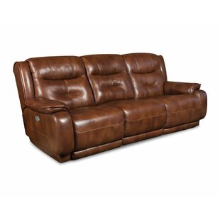 Crescent Leather Reclining Sofa by Southern Motion