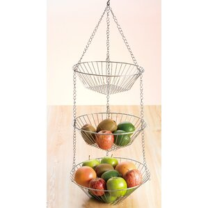 Chrome Works 3 Tiered Hanging Basket