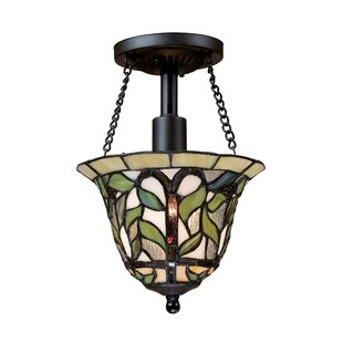 Eleonore 1-Light Semi-Flush Mount by August Grove