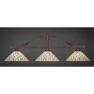 Reba 3-Light Billiard Island Pendant by Fleur De Lis Living