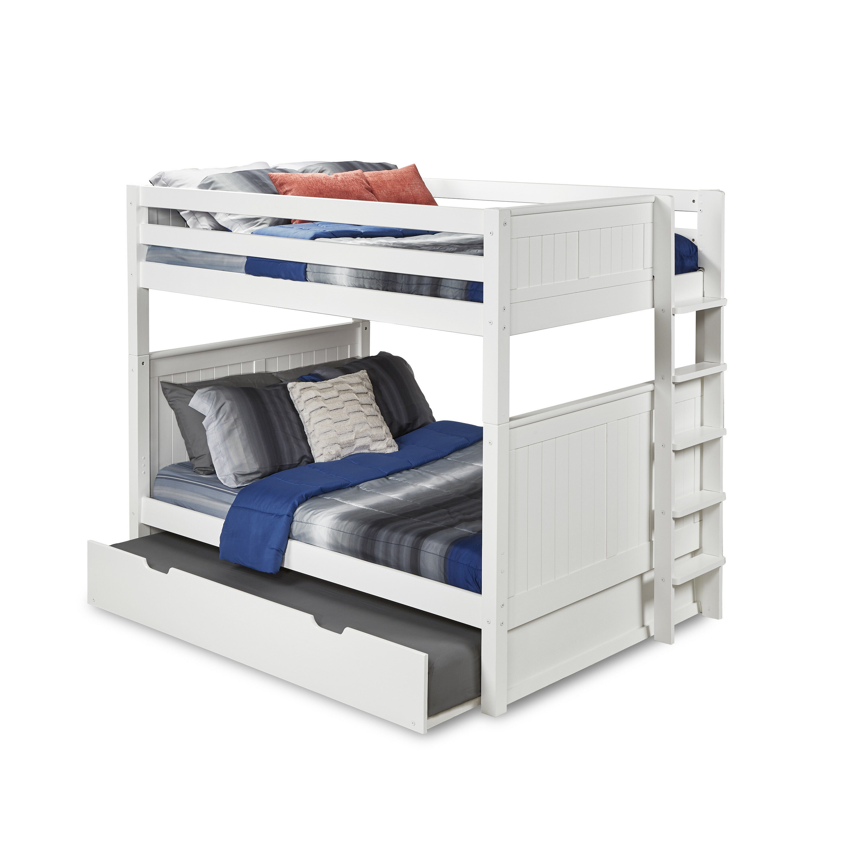 Harriet Bee Oakwood Full Over Full Bunk Bed With Trundle Wayfair