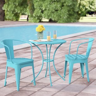Auden Outdoor 3 Piece Iron Bistro Set by Turn on the Brights