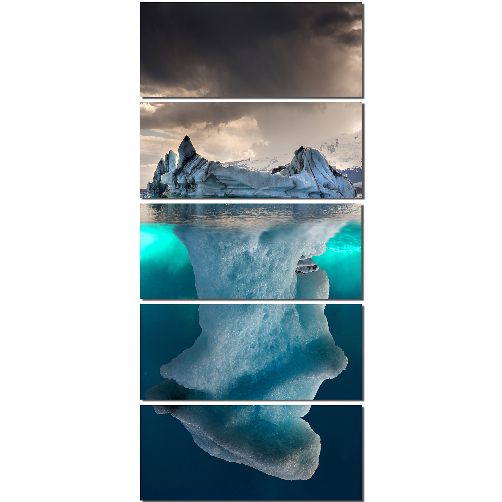 Ebern Designs Large Iceberg In Sea 5 Piece Wall Art On Wrapped Canvas Set Reviews Wayfair Ca