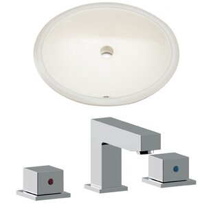 Reviews CUPC Ceramic Oval Undermount Bathroom Sink with Faucet and Overflow By American Imaginations