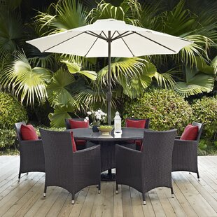 Latitude Run Ryele 8 Piece Outdoor Patio Dining Set with Cushions