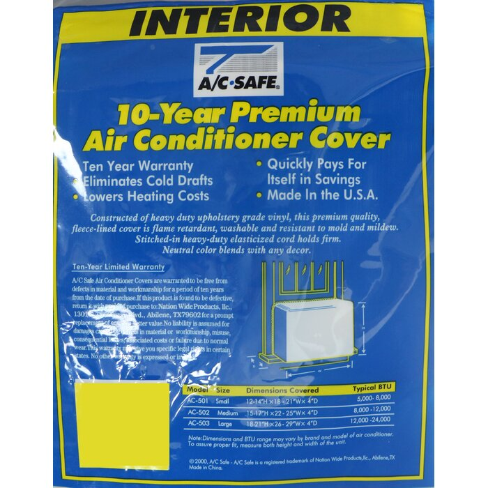 Interior Window Air Conditioner Cover