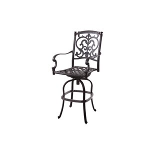 Swivel Patio Bar Stool with Cushion by Astoria Grand