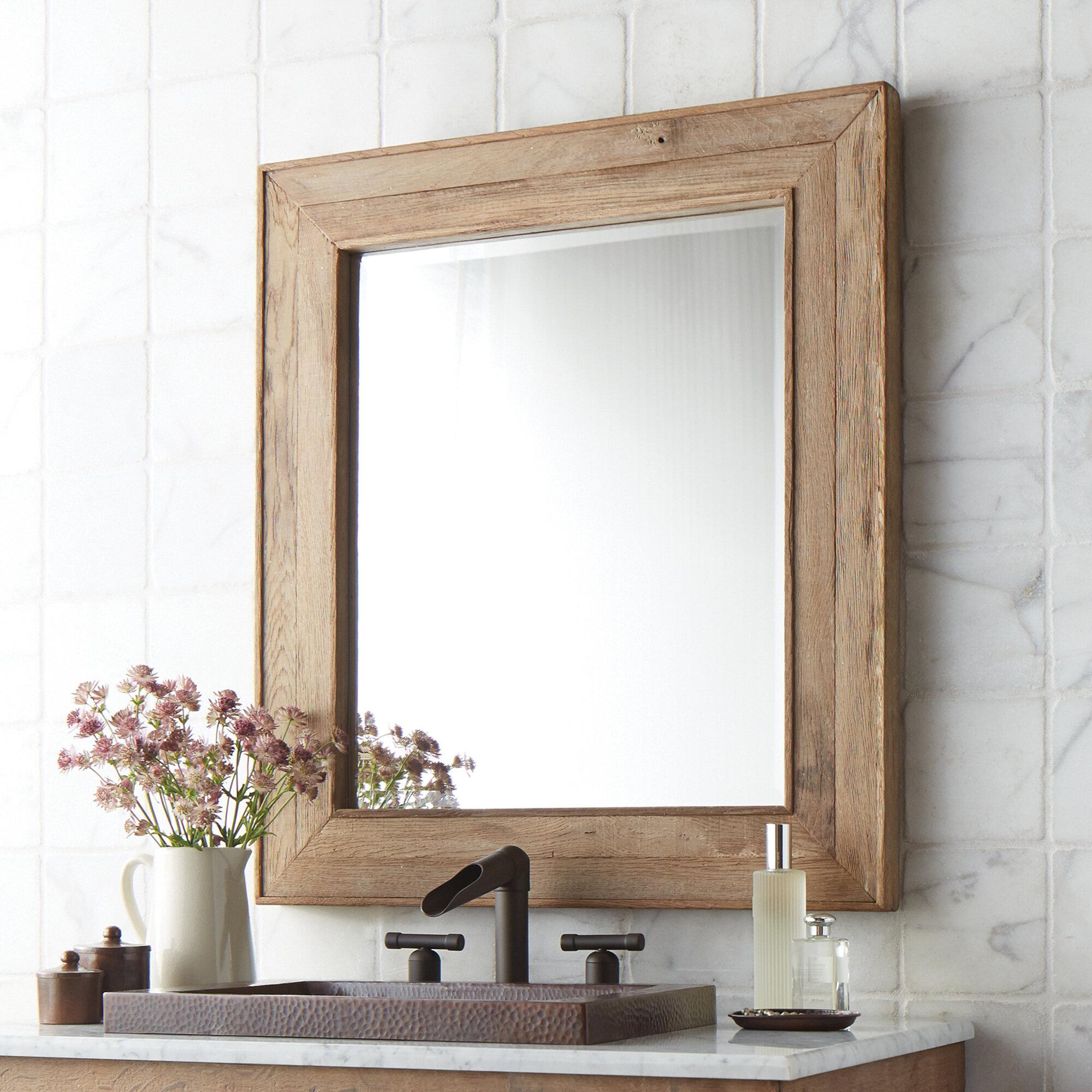 Native Trails Vintner S Chardonnay Rustic Beveled Bathroom Mirror Reviews Wayfair