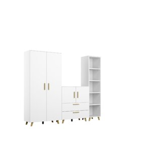 Shuffle 200cm Wide Clothes Storage System By Rauch
