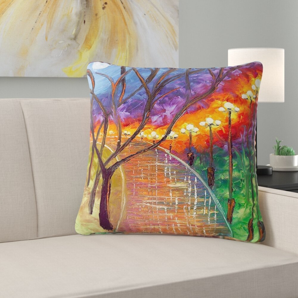 East Urban Home Couch Never Alone Throw Pillow Wayfair