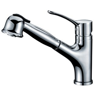 Dawn USA Single Handle Deck Mount Kitchen Faucet with Pull-Out Spray