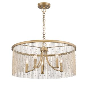House of Hampton Latrell 5-Light Drum Chandelier