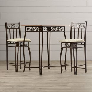August Grove 3 Piece Counter Height Pub Table Set
