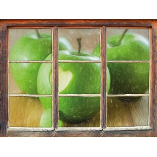 Heart On An Apple Wall Sticker By East Urban Home